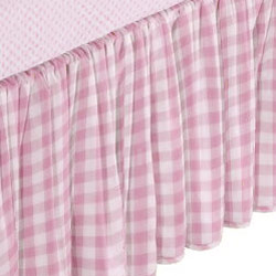 Portable Crib Gingham Dust Ruffles