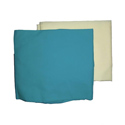 2 Flat Crib Sheets-Aqua and Yellow