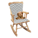 Minky Chevron Adult Rocking Chair Cushion