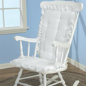 White Eyelet Rocking Chair Cushion