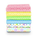 Pastel Bubbles Cotton Porta Crib Sheet