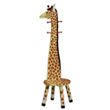 Giraffe Stool with Coat Stand